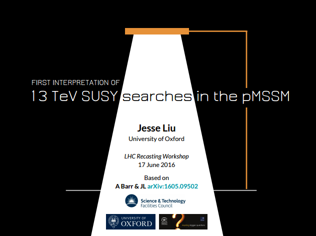 First 13 TeV pMSSM title slide